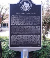 Historical Marker at the site of the first Sit-In