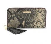 Mercer zip wallet - Snakeskin