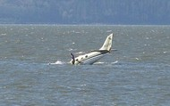 The plane that crashed in the L shaped lake.