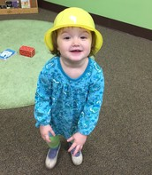 Anndi and her hard hat.