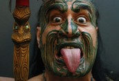 The Maori have a unique appearance. They are 5.8 ft tall and their skin is tan. For festivals they paint their faces. They also have black hair.