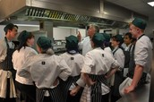 Ready, steady, cook! Brian Turner visits Reading College