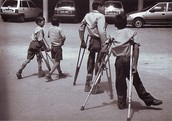 Kids with polio