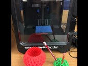 New 3D printer in the library allows students to think beyond the piece of paper!