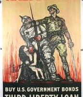 This poster was used to get people to buy war bonds