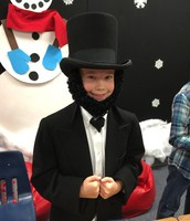 Zoe as Abraham Lincoln
