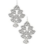 Geneve Lace Earrings - Silver