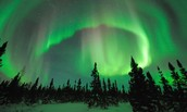 The cause of the northern lights