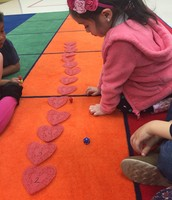 Heart Number Line Game