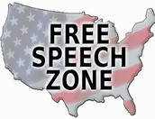 Is the U.S.A a free speech zone?
