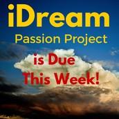 iDream Passion Project: Update 4/3/16
