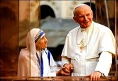 Mother Teresa Visiting The Pope