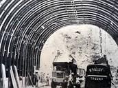 Construcción del túnel Cristo Redentor