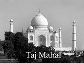 The Taj Mahal a beautiful building