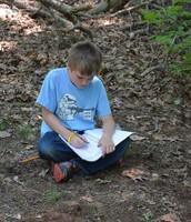 Aaron, creating a masterpiece in Earth Studio.