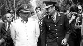 El entonces presidente Jorge Videla con el gobernador Sixto Fernández