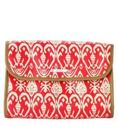 Hang On Travel Bag in Red Ikat -- $19  (exterior view)