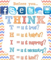 Before you post, THINK!