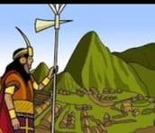 Inca looking over Machu Picchu