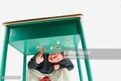 Gum under table