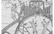 Scene of William the Conqueror and his army on the attack