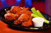 delicious hot wings  $2.50