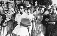 Elizabeth Eckford unaware of the other eight's meeting