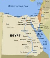 The Nile river from a map