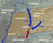 Map of the Battle of Shiloh