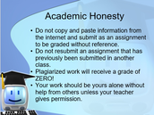Academic Honesty