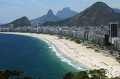 Brazil has one of the most beautiful beaches in the world .The most visited beach in Brazil is Copacabana it has a great view to the sea and its a great place to play beach soccer.