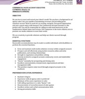 Commercial Sales Account Executive pg. 1
