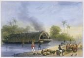 """Plantation Boat, Suriname, ca. 1831"""