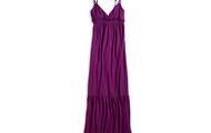 Púrpura largo Vestido