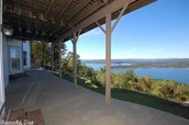View from lower level covered porch