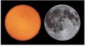 El sol es más brillante que la luna.