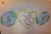 Recycling means that you love the planet.