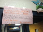 Guest Teacher Expectations posted and visible!