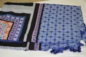 Capri Cotton Wrap - Moroccan Tile  $30