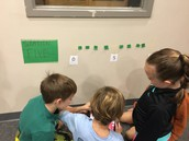 Callie's students building a 3D number line