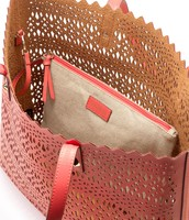 Geranium Tote Bag with linen pouch included