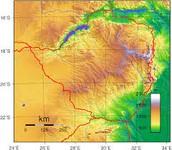 The elevation of the land around Great Zimbabwe