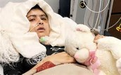 Mala Yousafzai in the hospital