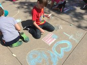 Peace Day Making Sidewalk Messages