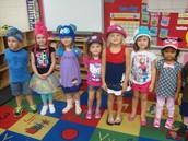 Pre-K children wear their hats!