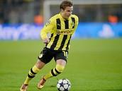 Mario Götze jugando para el Borussia Dortmund
