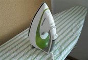 Always use an ironing board when your iron is on.