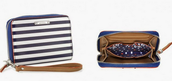 Chelsea Tech Wallet- navy stripe