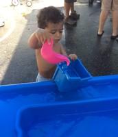 Heath enjoying water play