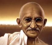 Middle aged Gandhi